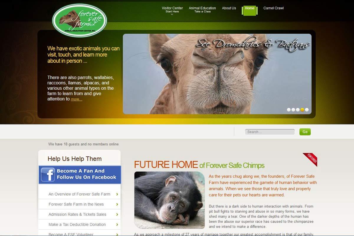 ForeverSafeFarm A 5013c Non-Profit Website Example