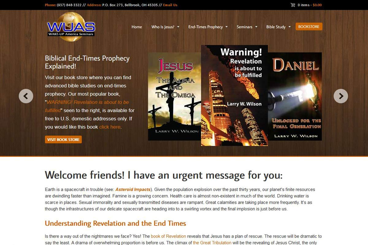 Wake-Up.org – A Biblical Prophecy Books Sales Site