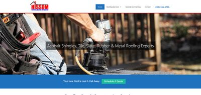Website Portfolio - Hissom Roofing