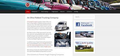 Website Portfolio - R-K-Campf Transport